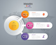 Infographic design and business icons with 3 options. Royalty Free Stock Photography