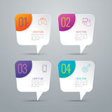 Infographic design and business icons with 4 options. Royalty Free Stock Photo