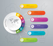 Infographic design and business icons with 6 options. Royalty Free Stock Images