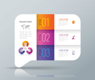 Infographic design and business icons with 3 options. Stock Images