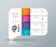 Infographic design and business icons with 4 options. Abstract 3D digital illustration Infographic. Vector illustration can be used for workflow layout, diagram Royalty Free Stock Photography