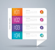 Infographic design and business icons with 4 options. Stock Images