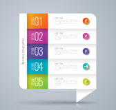 Infographic design and business icons with 5 options. Royalty Free Stock Photos