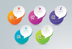 Infographic design and business icons with 5 options. Royalty Free Stock Images