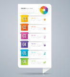 Infographic design and business icons with 6 options. Abstract 3D digital illustration Infographic. Vector illustration can be used for workflow layout, diagram royalty free illustration
