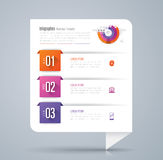Infographic design and business icons with 3 options. Abstract 3D digital illustration Infographic. Vector illustration can be used for workflow layout, diagram royalty free illustration