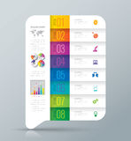 Infographic design and business icons with 8 options. Royalty Free Stock Image
