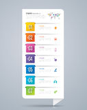 Infographic design and business icons with 7 options. Royalty Free Stock Photography