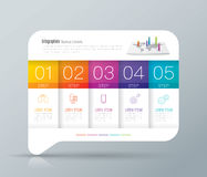 Infographic design and business icons with 5 options. Stock Image