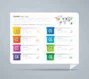 Infographic design and business icons with 8 options. Royalty Free Stock Photography