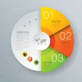 Infographic design and business icons with 3 options. Royalty Free Stock Image