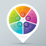 Infographic design and business icons with 5 options. Stock Photography