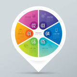 Infographic design and business icons with 6 options. Stock Photos