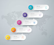 Infographic design and business icons with 5 options. Royalty Free Stock Photography