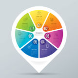 Infographic design and business icons with 7 options. Stock Images