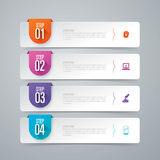 Infographic design and business icons with 4 options.