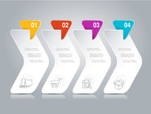 Infographic design with business icons. Workflow layout, annual report, web design, diagram. Marketing template with 4 options, st Stock Images