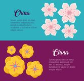 China culture design. Infographic design with china culture over colorful background, vector illustration Stock Photo