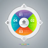 Infographic design circle concept vector Royalty Free Stock Image