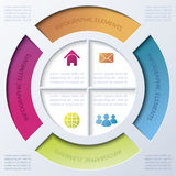Infographic design with circle and four segments Royalty Free Stock Photo