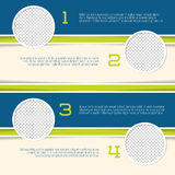 Infographic design with circle photo containers. And numbered options Royalty Free Stock Image