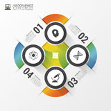 Infographic design with Circles. Abstract concept. Vector Stock Photos