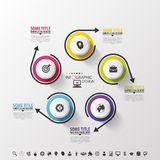 Infographic design circles on the grey background. Vector Stock Photo