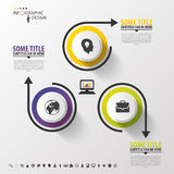 Infographic design circles on the grey background. Vector illustration Stock Photo