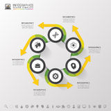 Infographic design circles on the grey background. Vector illustration Royalty Free Stock Image