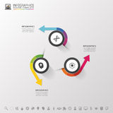 Infographic design circles on the grey background. Vector illustration Royalty Free Stock Photo