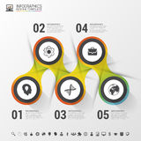 Infographic design circles on the grey background. Vector illustration.  Stock Photography