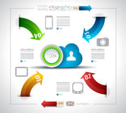 Infographic design for Cloud computing Stock Images