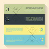 Infographic design with cloud icons Royalty Free Stock Photography