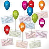 Infographic design with color ballons Stock Photography