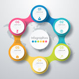 Infographic design with colored Stock Photo