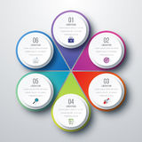 Infographic design with colored. And white circles on the grey background. Eps 10 vector file Vector Illustration