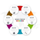 Infographic design with colored Royalty Free Stock Photos