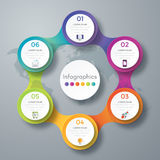 Infographic design with colored. And white circles on the grey background. Eps 10 vector file Stock Illustration