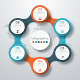 Infographic design with colored. And white circles on the grey background. Eps 10 vector file Stock Images
