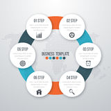 Infographic design with colored Royalty Free Stock Photography