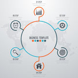 Infographic design with colored. And white circles on the grey background. Eps 10 vector file Royalty Free Illustration