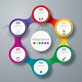 Infographic design with colored. And white circles on the grey background. Eps 10 vector file Royalty Free Stock Photography