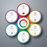 Infographic design with colored. And white circles on the grey background. Eps 10 vector file Royalty Free Stock Photo