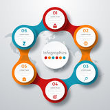 Infographic design with colored Stock Images