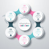 Infographic design with colored. And white circles on the grey background. Eps 10 vector file Royalty Free Stock Images