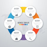 Infographic design with colored. And white circles on the grey background. Eps 10 vector file Royalty Free Stock Photos