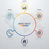 Infographic design with colored. And white circles on the grey background. Eps 10 vector file Royalty Free Stock Image