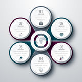 Infographic design with colored Stock Photos