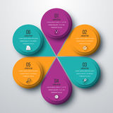 Infographic design with colored Royalty Free Stock Photo