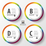 Infographic design colorful circles on the grey background. Vector illustration Stock Image